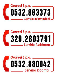 Guaresi Spa numeri assistenza
